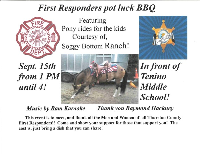 First Responders pot luck BBQ