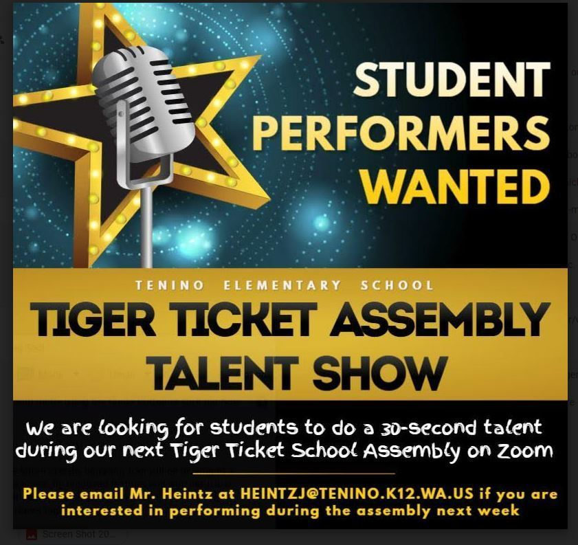 Tiger Ticket Assembly Talent Show