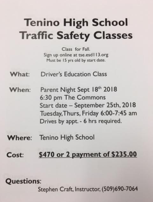 Traffic Safety Classes