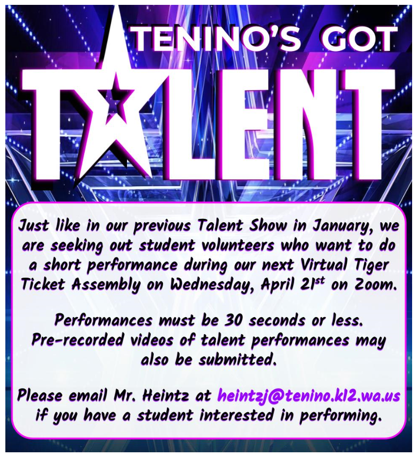 TES Spring Virtual Talent Show