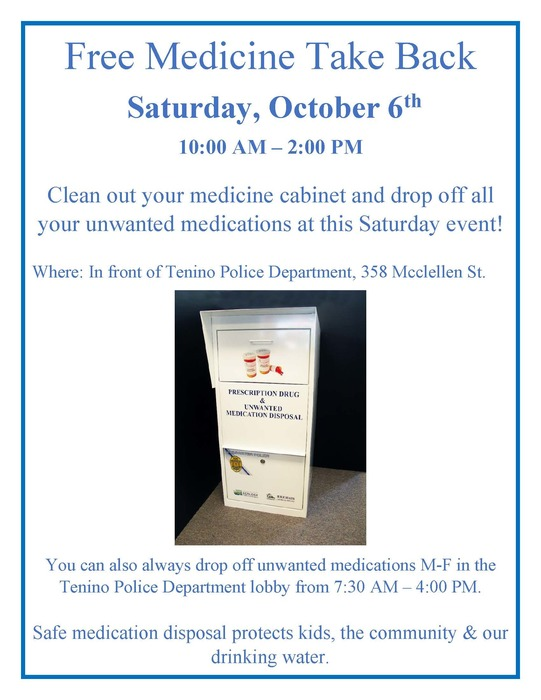 Medicine Take Back Flier