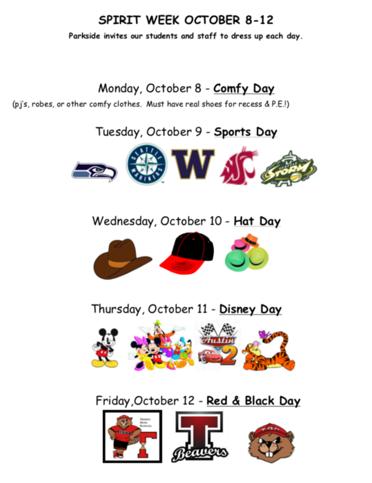Spirit Week Fall 2018