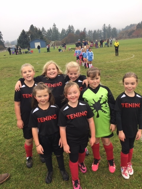 3rd and 4th graders after a soccer game.