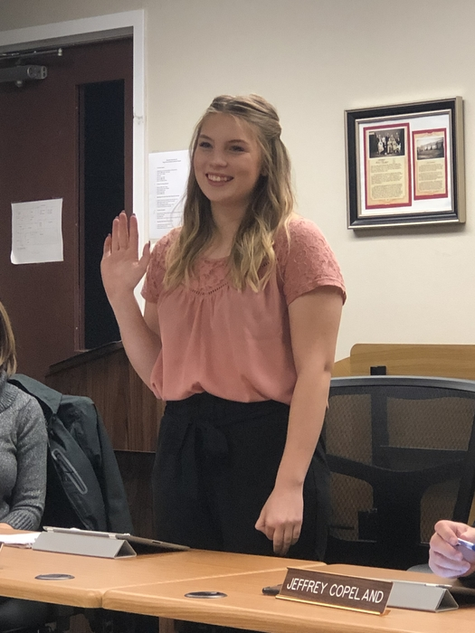 Welcome Kat Fittinger, Student Representative to the Board for the 18-19 School Year!
