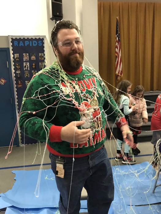 Mr. Edmonds being a great sport!