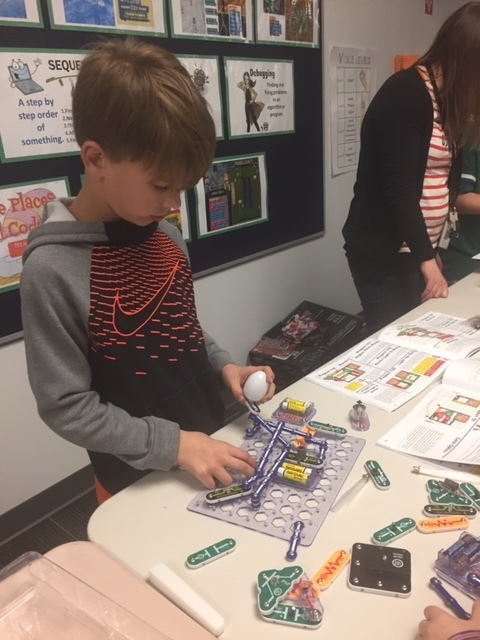 Circuit boards at Science Night.