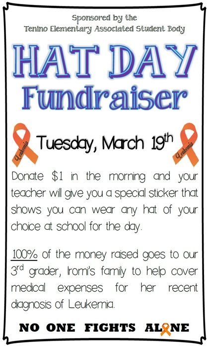 Hat Day Fundraiser