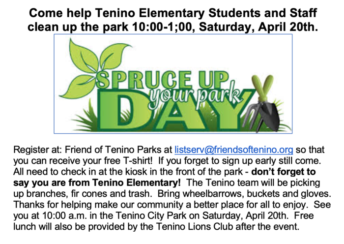 Spruce Up the Park Day