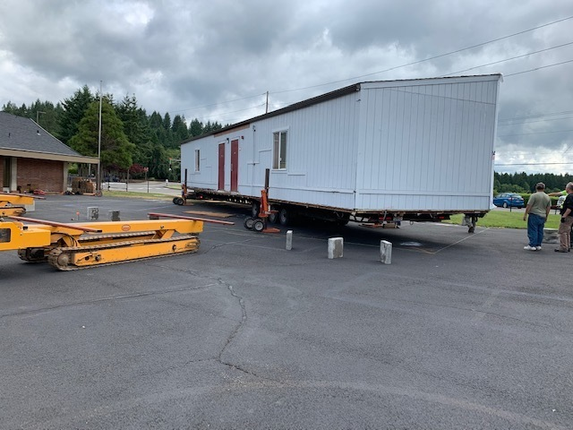 Teen center being delivered.