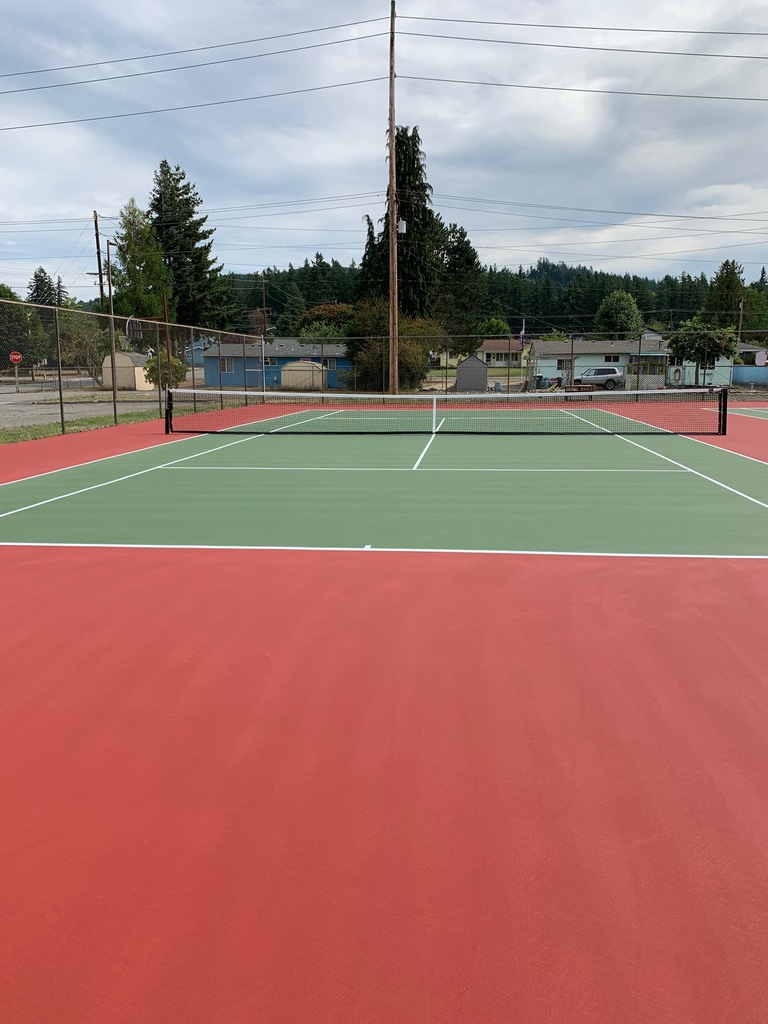New tennis courts front view