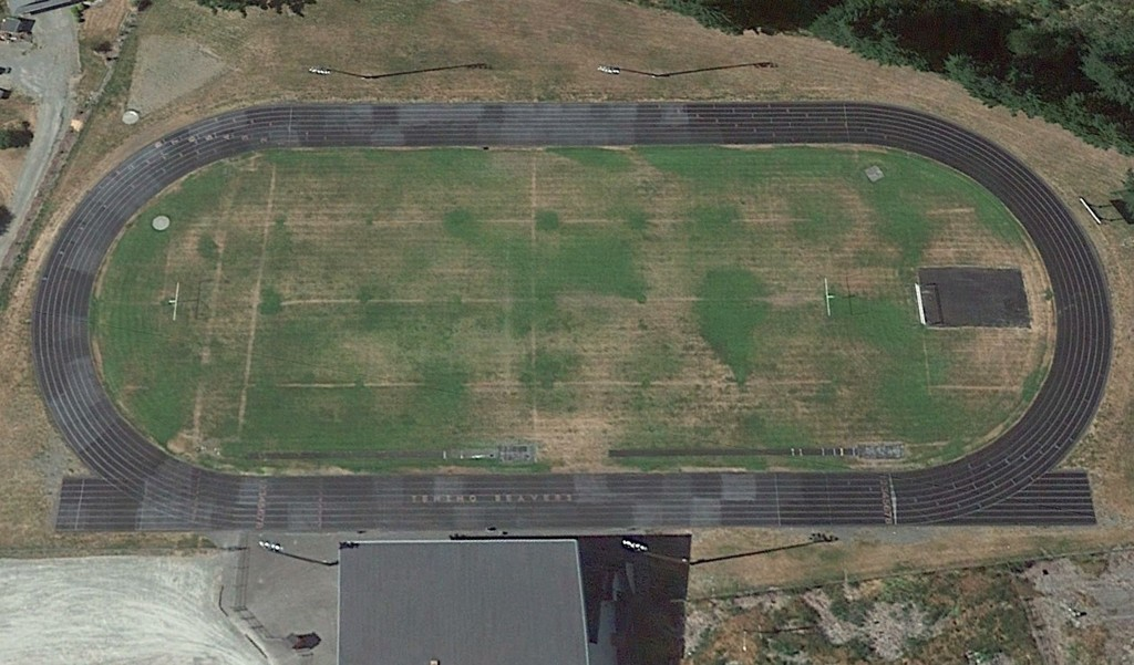Stadium field before renovation