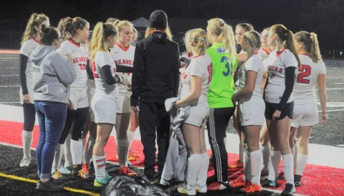 Girls Soccer Pregame Huddle