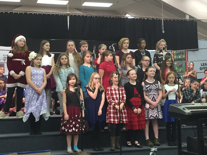 5th grade choir performs at winter concert.