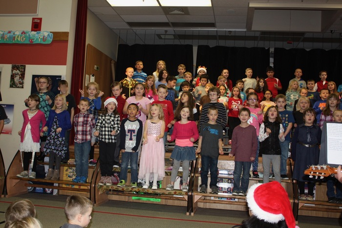 Students Singing during the Winter Sharing Program in December.