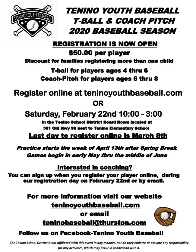 Tenino Youth Baseball