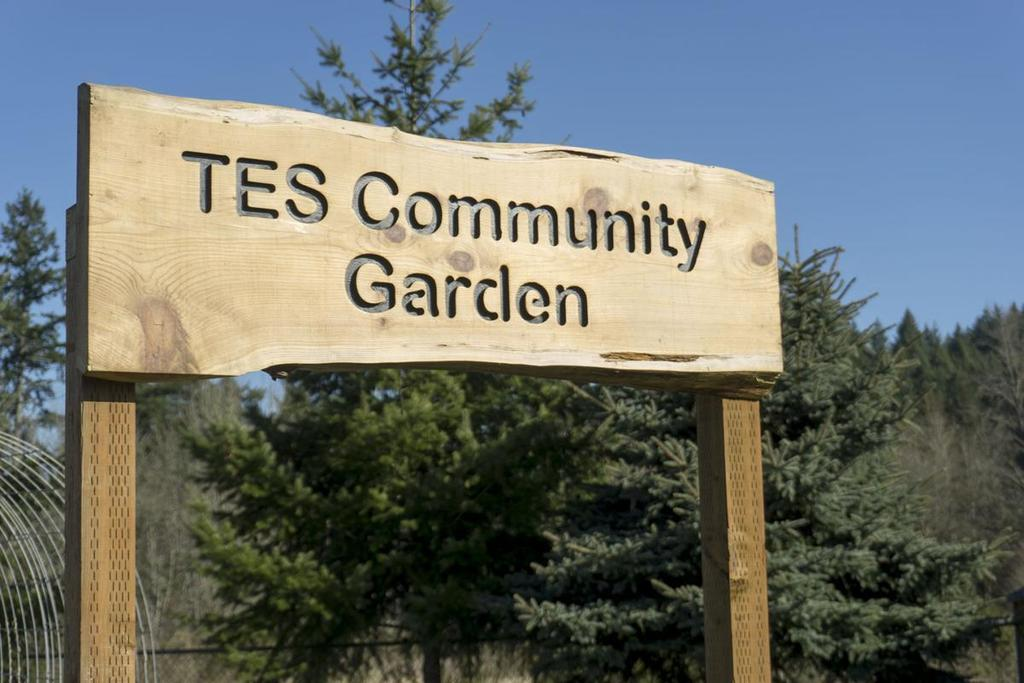 TES Community Garden Sign