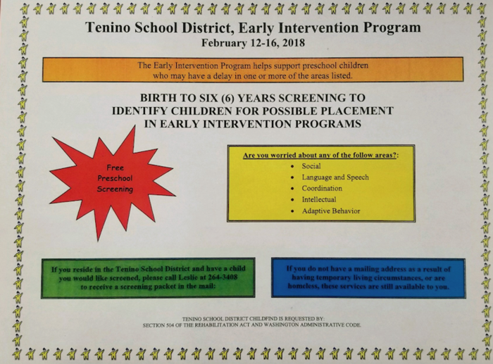 Early Intervention Program Flier