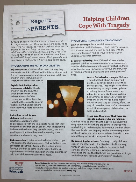 Helping Children Cope with Tragedy.