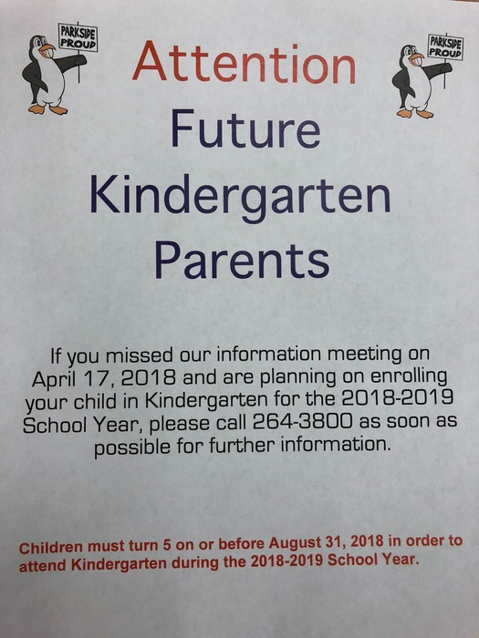 2018-19 Kindergarten Parents