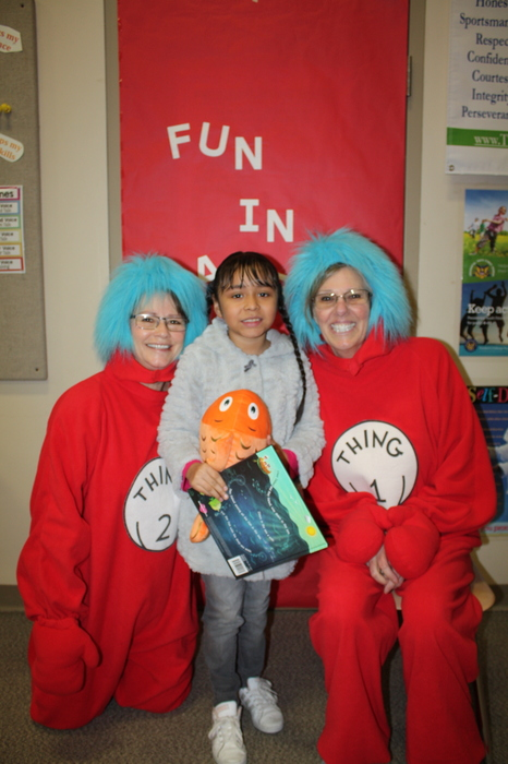 1st Grader with Thing 1 and Thing 2