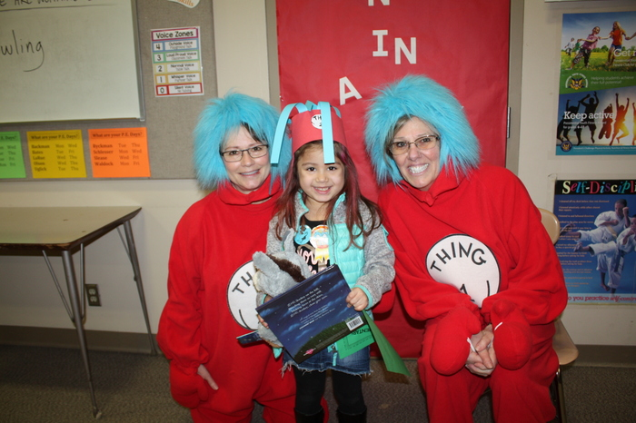 Student with Thing 1 and Thing 2
