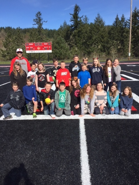Mr. Hadaller's class enjoys recess at Beaver Stadium.  Go Tigers!