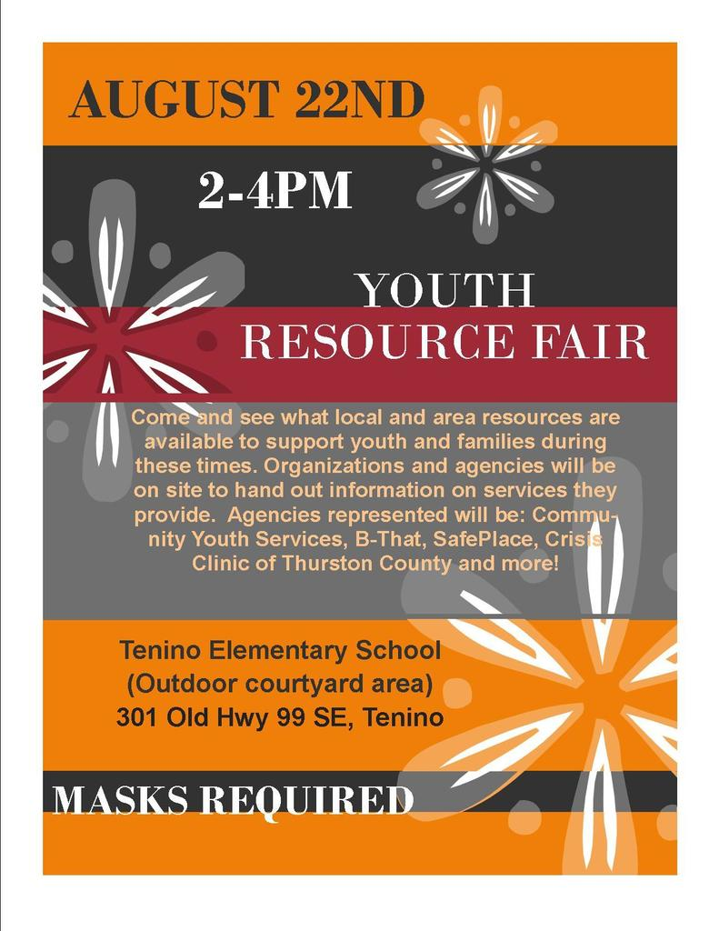 Youth Resource Fair Flyer